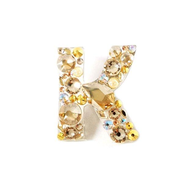 Sagė Raidelė su Swarovski kristalais Gold