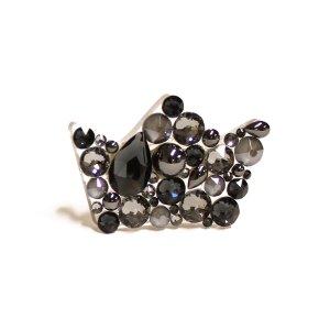 Sagė su Swarovski kristalais karūna Metallic