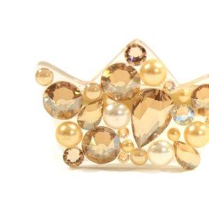 Sagė su Swarovski kristalais Karūna Gold