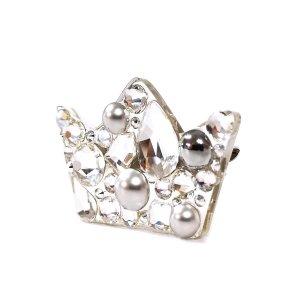 Sagė su Swarovski kristalais Karūna Silver