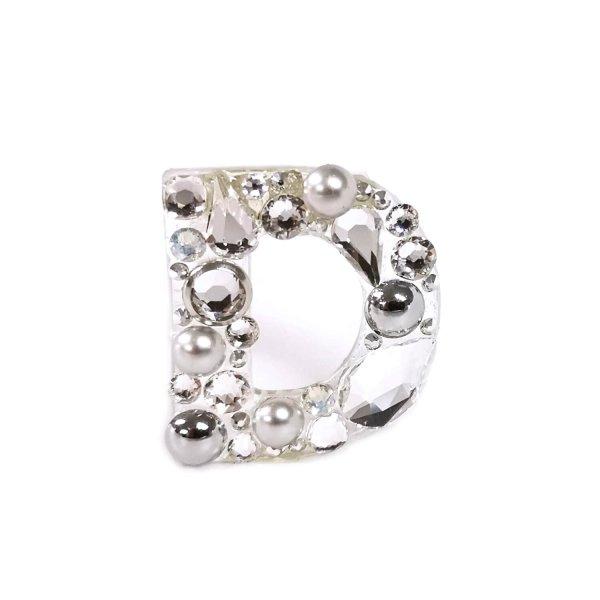 Sagė Raidelė su Swarovski kristalais Silver