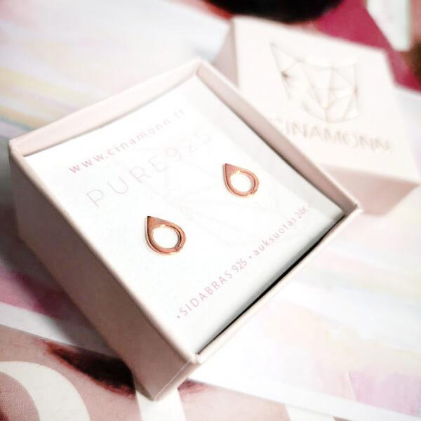 Rožinio aukso auskarai LAŠAS
