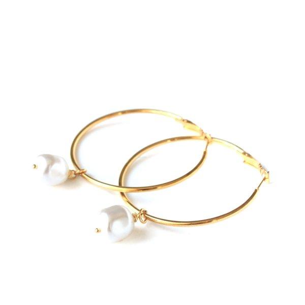 Auskarai Ratai su Swarovski perlais