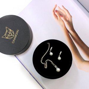Swarovski perlų vėrinys ir auskarai