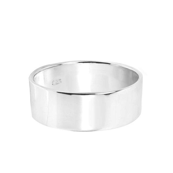 Platus Sidabrinis Žiedas