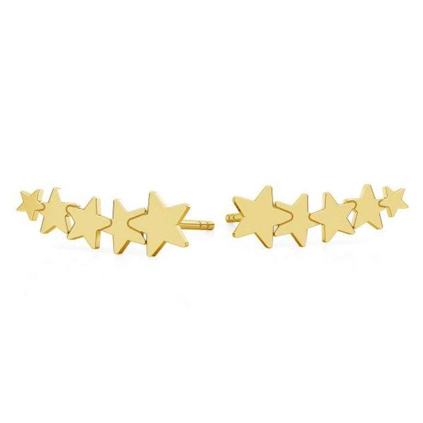 Auksuoti Auskarai Žvaigždutės