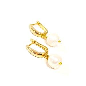 Upinių perlų auskarai